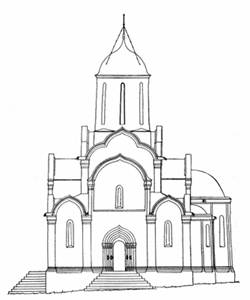 Reconstruction of the Saviour Cathedral (BA Ognev).