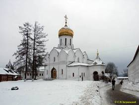 The virgin Nativity Cathedral of the Savvino-Storozhevsky monastery in Zvenigorod.