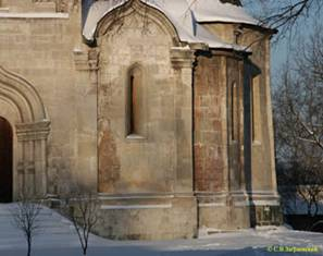 Well seen that the slope of the middle apse of the Saviour Cathedral ends about two-thirds of its height.