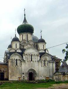 The Cathedral of the Dormition monastery in Staritsa.