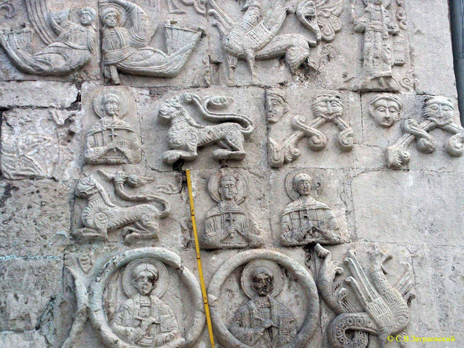 G white stone carvings of ancient