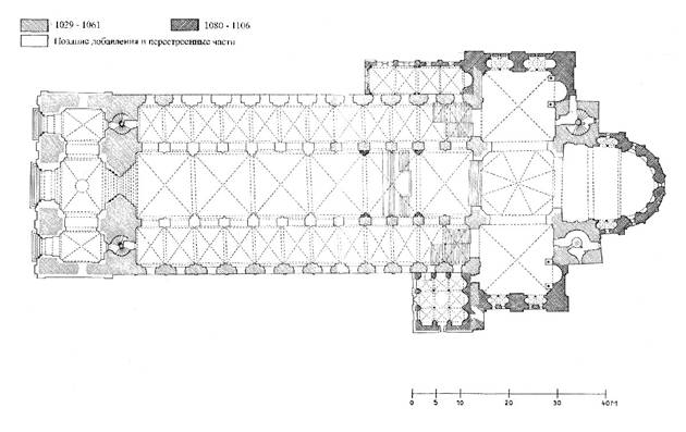 The Romanesque Cathedral in Speyer. The plan.