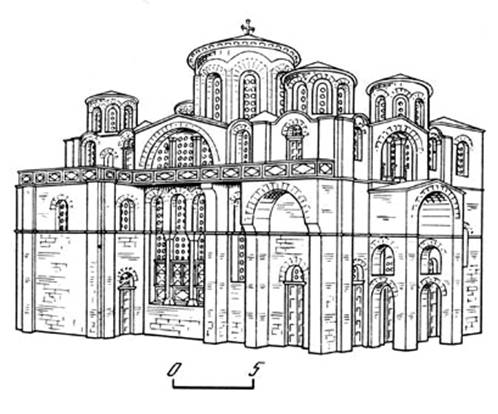 Constantinople. Church of the Theotokos monastery lips (reconstruction A. Migaud)