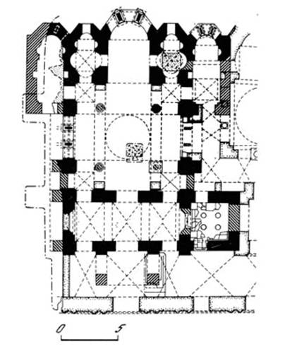 Church of the Theotokos monastery lips. The plan.