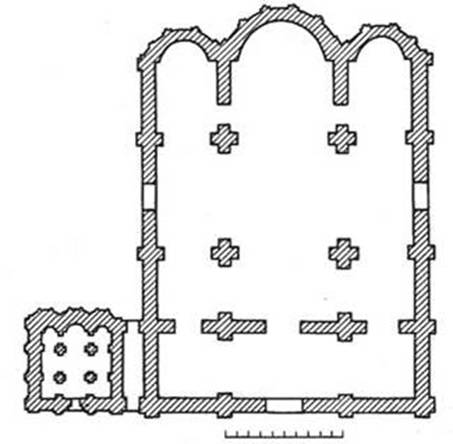 Assumption Cathedral of Kiev-Pechersk Lavra. The plan.