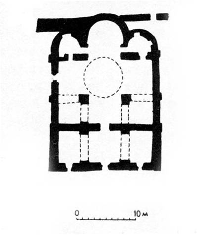 The Cathedral of the Mirozhsky monastery. The plan.