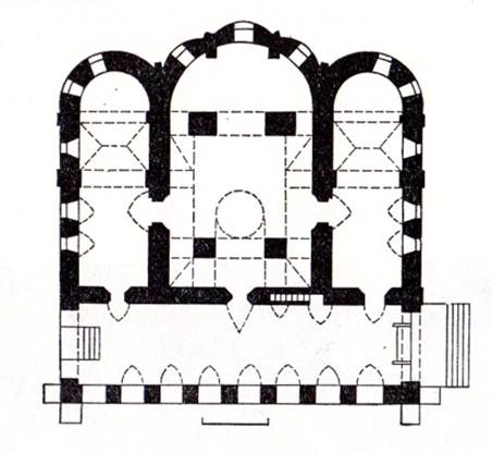 Nicholas Church in the Nikolo-Uryupin. The plan.