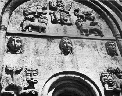 A fragment of decoration of the Church of the Intercession on the Nerl.