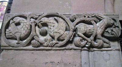 A fragment of decoration of the Cathedral in Mainz, Mainz, Germany.