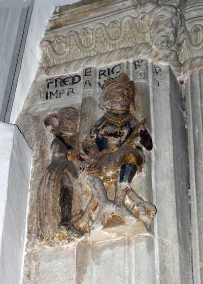 A fragment of decoration of the Cathedral in Freising, Freising, Germany.