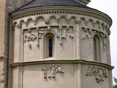 A fragment of decoration of the Church in Rengraben (Schoengrabern), Austria.