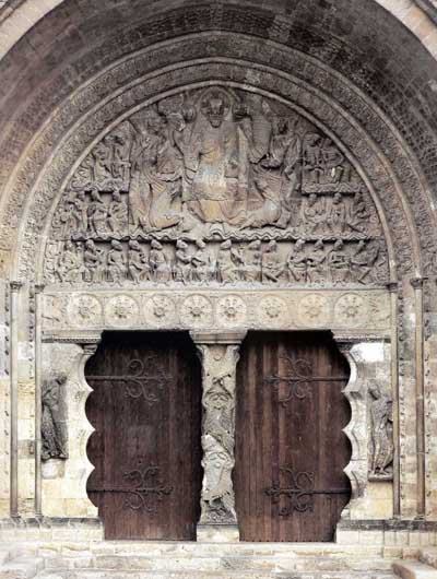 The portal of the Church in Moissac (Moissac), Department of tarn et Garonne (Tarn-et-Garonne, France.