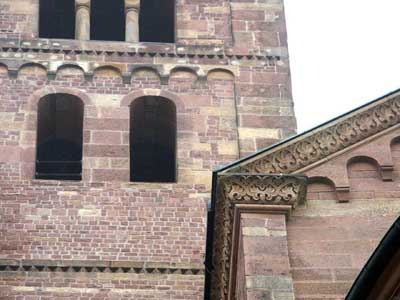 A fragment of decoration of the Cathedral in Speyer (Speyer, Germany.