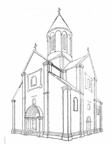 Reconstruction of the original appearance of the Church Panteleimon in Galicia (Eurogites).