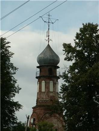 The bell tower Mitrofanievsky Church in Urzhum