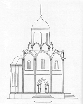 "Assumption Cathedral ""on the Town"" in Zvenigorod. Reconstruction Bagnava."