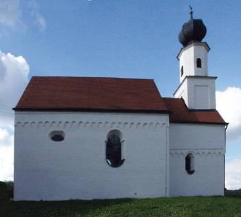 "One of the many hundreds of European churches with the ""universal"" Roman decor (d oberrerenbah, Bavaria, XIII century)."