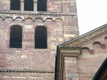 Universal Romanesque decoration on the Cathedral in Speyer.