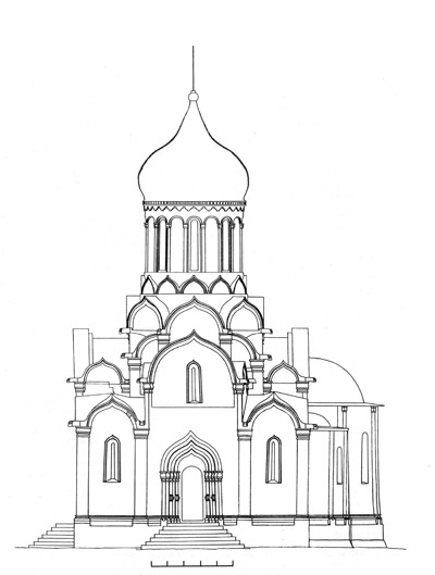 The Cathedral of the Andronikov monastery. Reconstruction of the author.