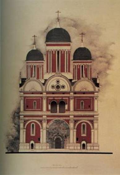 The Archangel Cathedral of the Moscow Kremlin. 1505-1508 years. Reconstruction Kavelmahera.