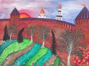 Sergey Zagraevsky. 12 MONTHS. RUSSIAN CITIES. SEPTEMBER. WALLS OF NIZHNY NOVGOROD KREMLIN