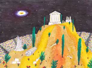 SERGEY ZAGRAEVSKY. 12 MONTHS, WORLD CITIES. MARCH. ATHENS, GREECE. VIEW OF ACROPOLIS