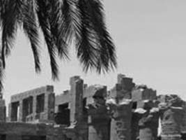 Under the palms (Karnak temple)