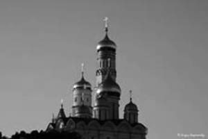 Kremlin cathedrals in sunset