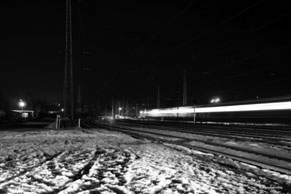 Night at Khotkovo station