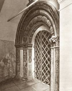 The portal of the Cathedral of the Chudov monastery in Moscow (1501).