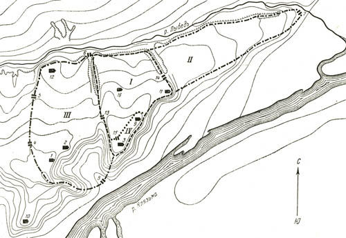 Fig. 1. The plan of Vladimir XII-XIII century (by N.N. Voronin).