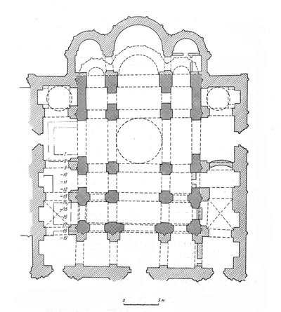The Cathedral of the assumption. The plan of the existing building.