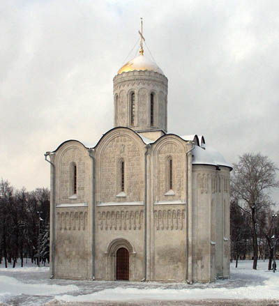 St. Demetrius Cathedral in Vladimir. General view.