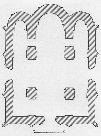 Dmitrievsky cathedral in Vladimir. Plan.