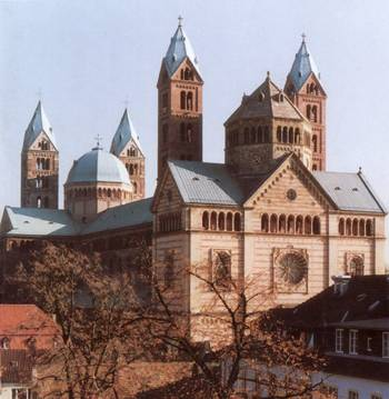 Cathedral in Speyer. View from the west.