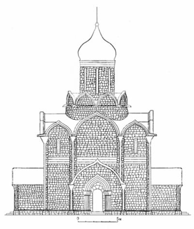 Assumption Cathedral in Moscow (1326-1327). Reconstruction by the author.