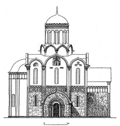St. George's Cathedral in Yuryev-Polsky. Original appearance. The author's reconstruction.