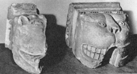 Зооморфные консоли XVII века, отнесенные Г.К.Вагнером к XIV веку.