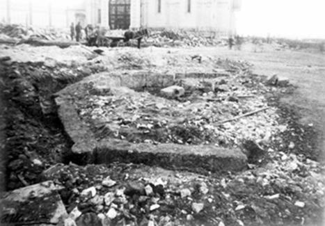 Остатки церкви-колокольни Иоанна Лествичника. Фотография 1913 года.