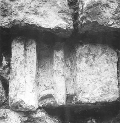 Фрагмент цоколя из коломенских раскопок под руководством В.В.Кавельмахера.
