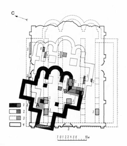 The plans of Moscow temples that were on the site of the assumption Cathedral Fioravanti 