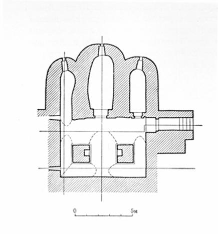 The plan of the lower temple in Gorodnya.