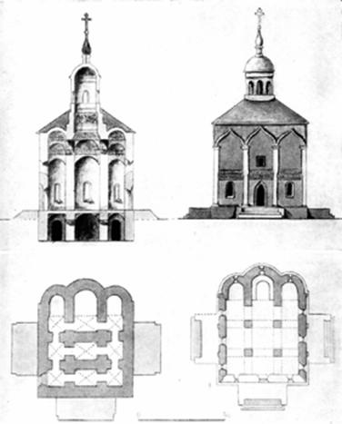 Drawing Staro-Nikolsky Cathedral in Mozhaisk before his accident in 1844.