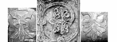 Single plate with zoomorphic reliefs on the wall of the southern nave of the Cathedral in Speyer.