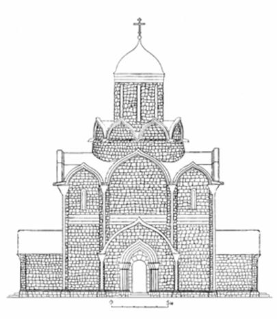 Assumption Cathedral 1326-1327 years in Moscow. Reconstruction of the author.